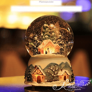 Castle in the Sky Snowball with Music box