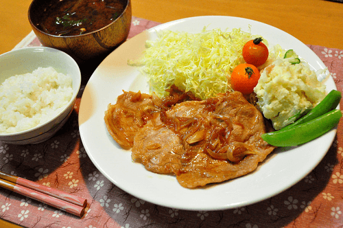 Shogayaki(Japanese pork cooked with ginger)
