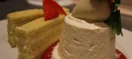 Pistaciefinancier med hvid trøffel og hjemmelavet vanille is