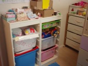 親子でお片づけサポート子供部屋ビフォー所沢整理収納