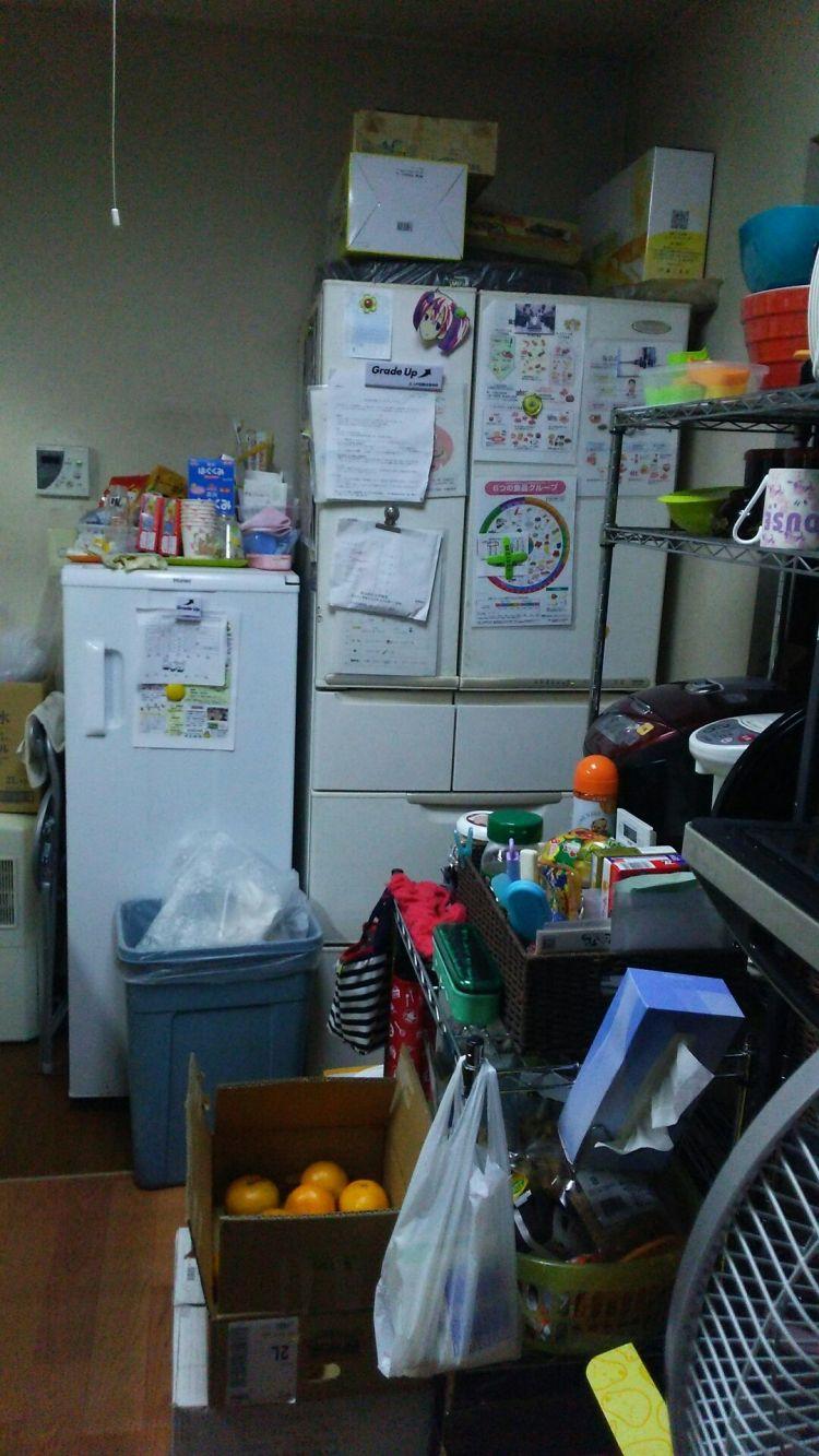 キッチン冷蔵庫周りビフォー