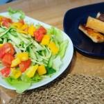 サラダと春巻き