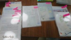 お客様宅の書類整理