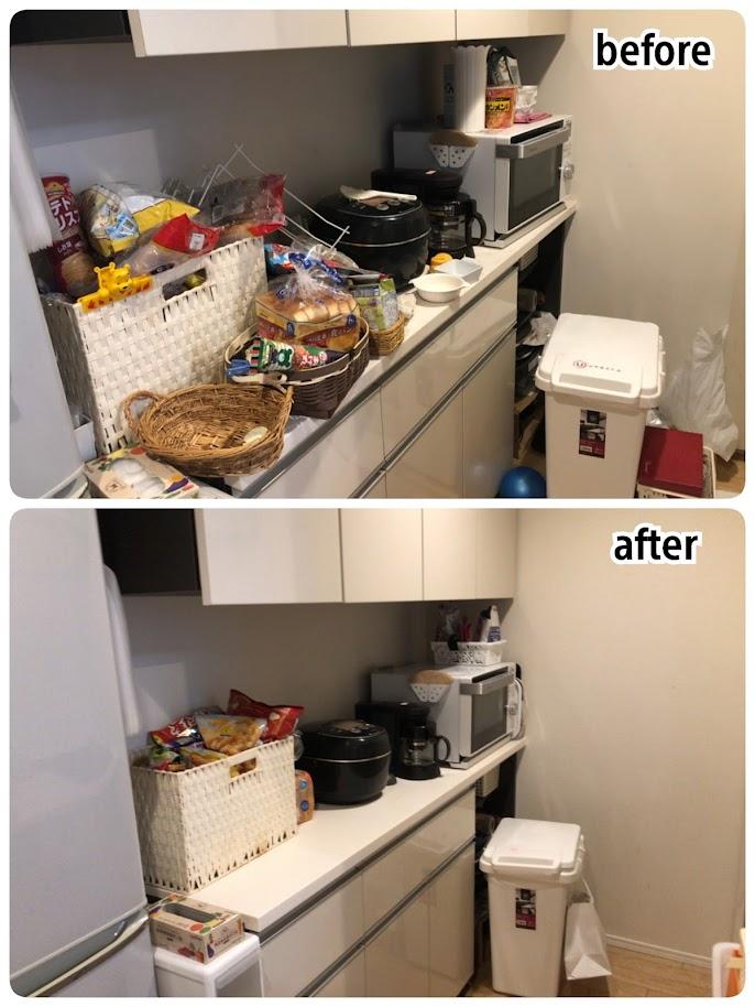 キッチンの整理収納ビフォーアフター