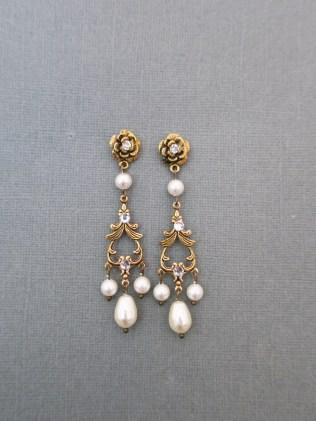 wedding chandelier earrings, bridal jewelry
