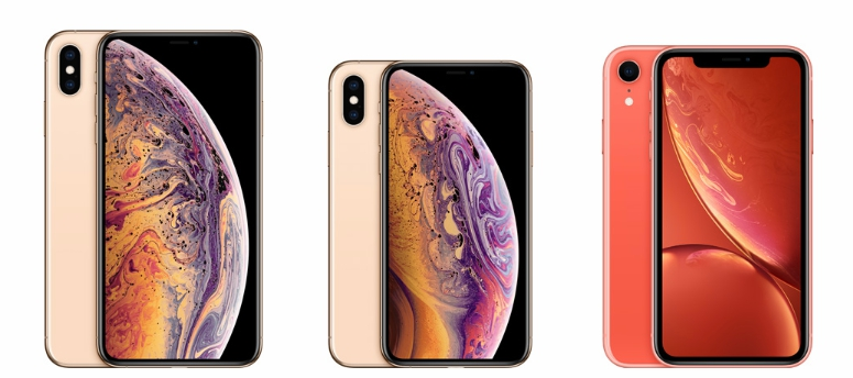 iPhoneXS Max iPhoneXS iPhone XR
