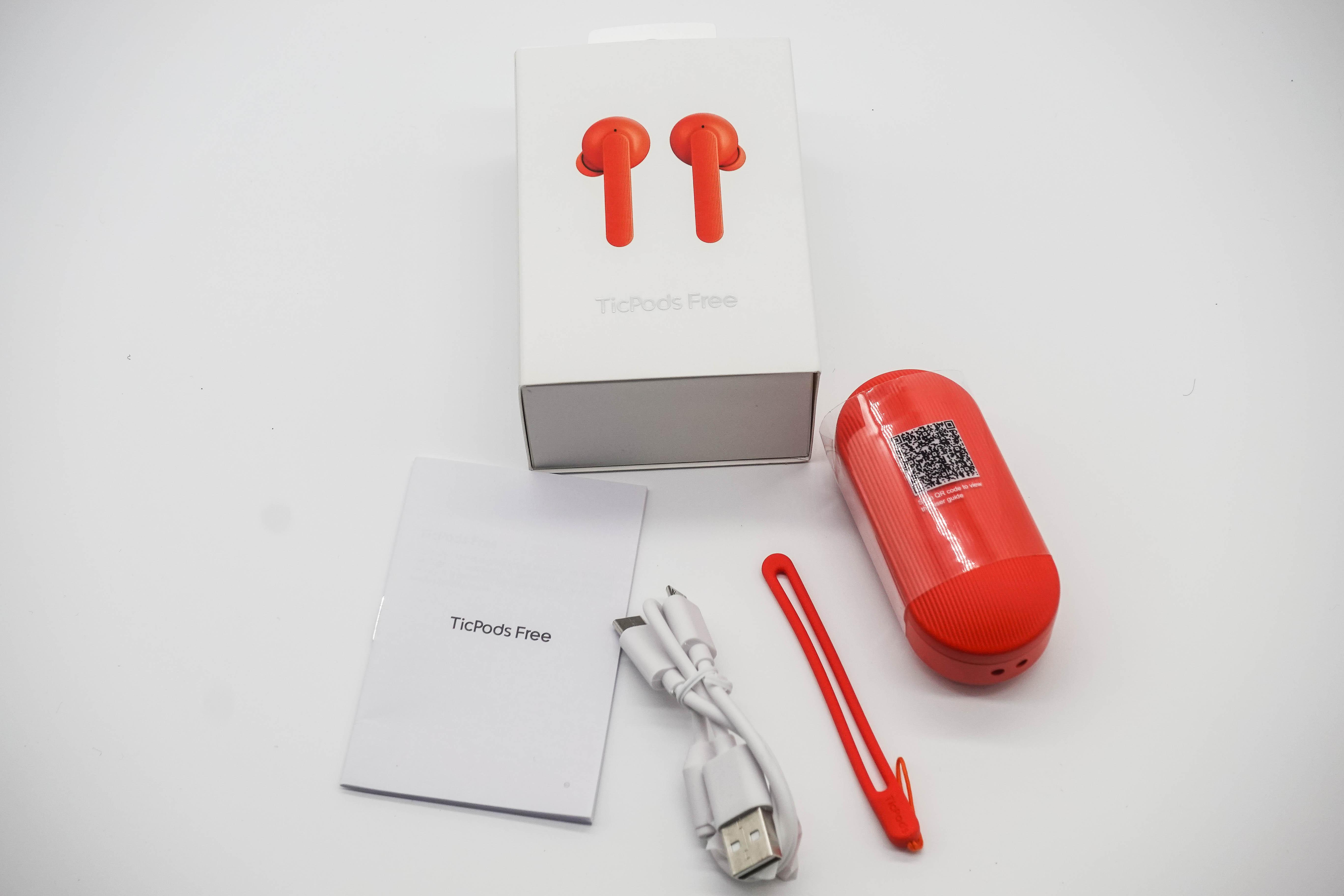 TicPods Free 盒裝內容物