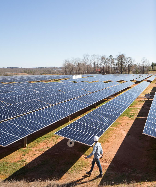 Apple 及其供應商已投資或採購一系列清潔能源技術,包括風能與太陽能。