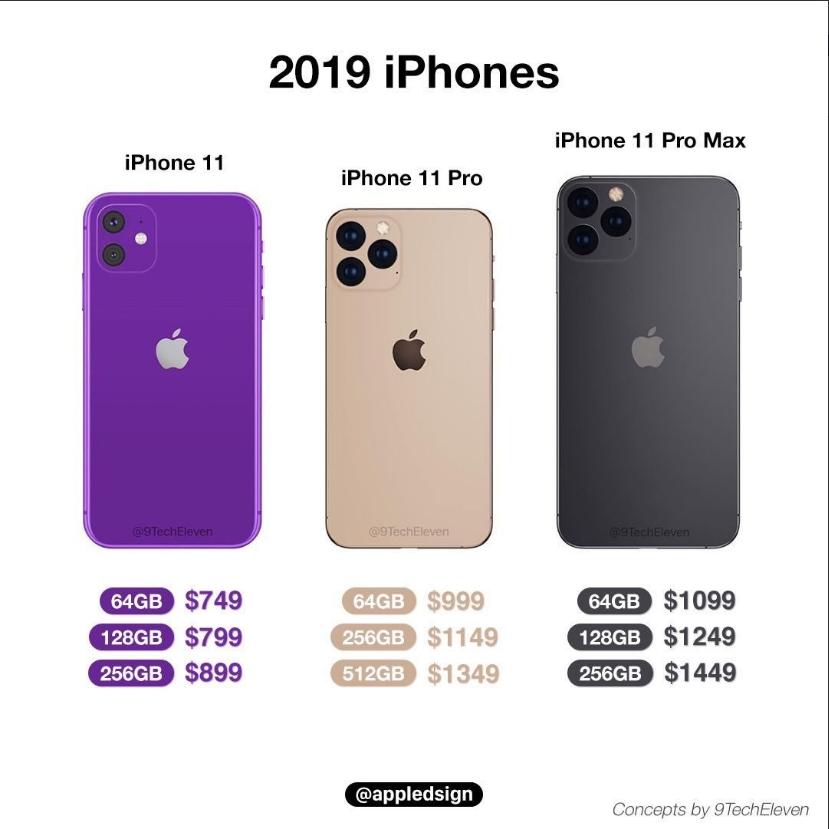 爆料大神9TechEleven爆料的新iPhone售價
