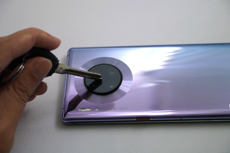 Huawei Mate 30 Pro 貼hoda藍寶石玻璃貼 試刮