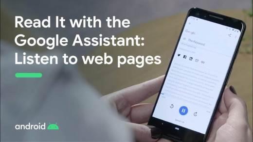 閱讀網頁更容易:讓 Google 助理為你朗讀