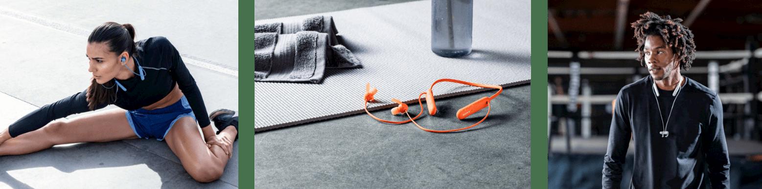 6) WI-SP510支援15小時電池續航力、俐落的耳塞防纏結磁鐵設計和連線更為穩定快速的藍牙5.0版本,同樣適合日常生活、通勤使用。