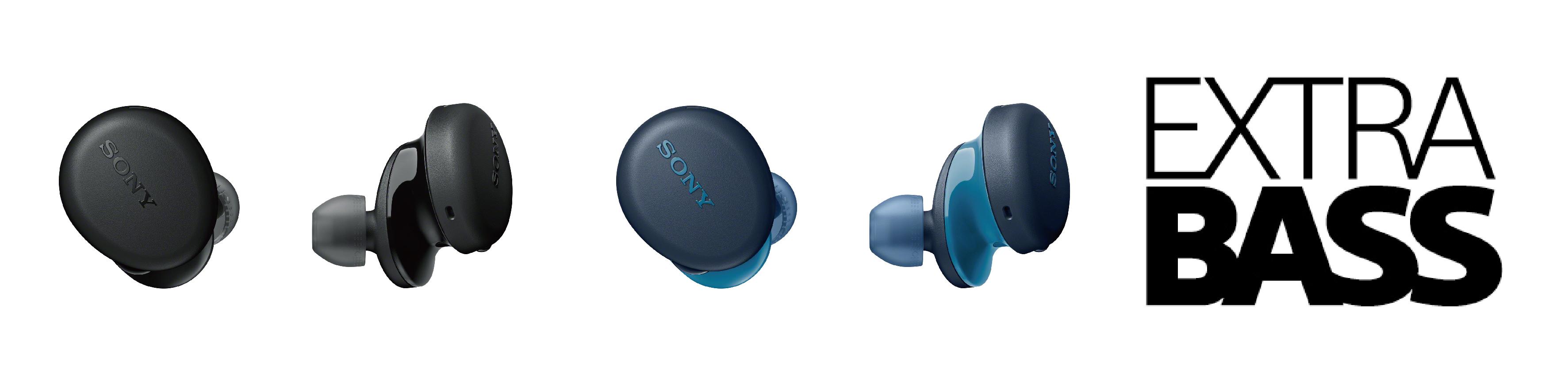 2) WF-XB700提供全新黑、藍兩色,小巧機身集結了獨家優質特點,輕便攜帶音樂隨行不受限。