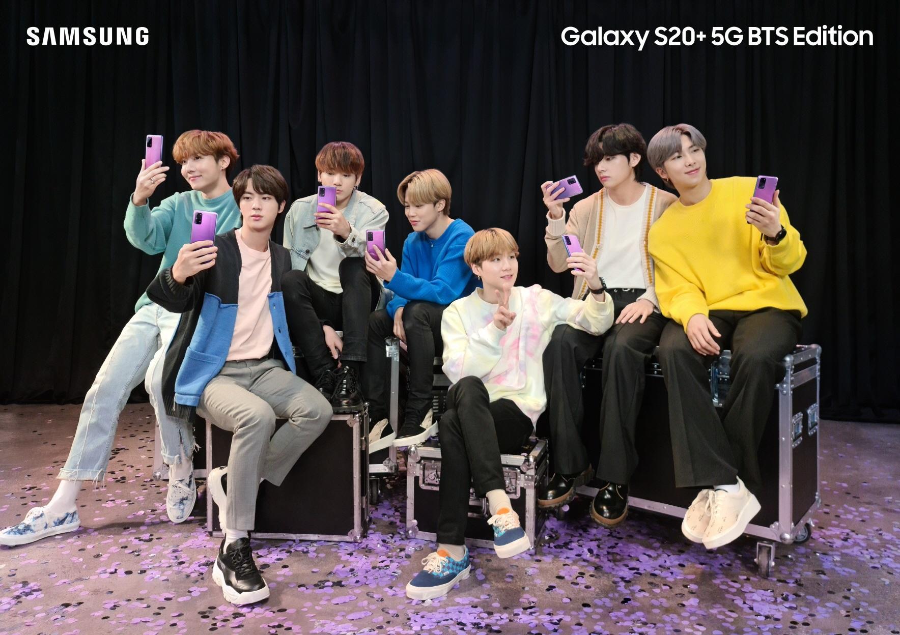 1】Galaxy S20+5G與Galaxy Buds+BTS Edition以BTS及粉絲為靈感,為裝置注入令人耳目一新的設計
