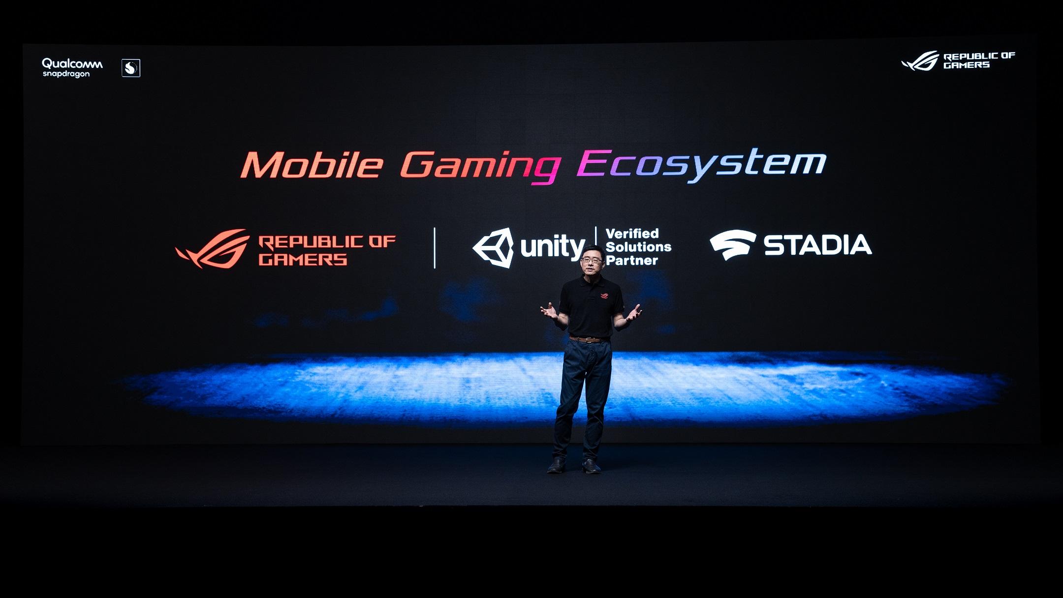 ROG也宣布與遊戲開發平台Unity Technologies、線上雲端遊戲平台 Google Stadia™攜手合作。