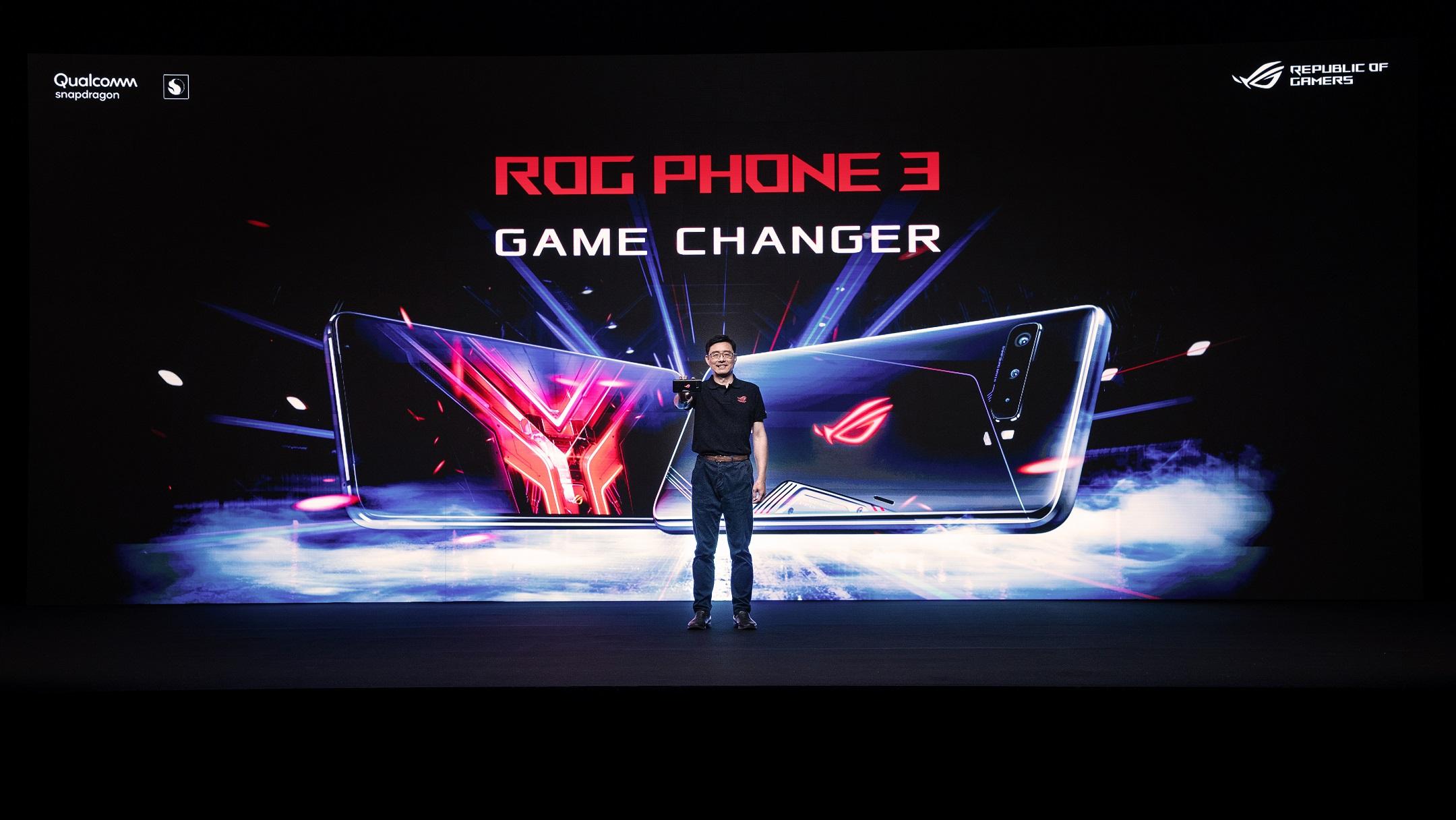 ROG 2020 Game Changer》線上新品發表會中率先揭露新一代ROG Phone 3電競手機。