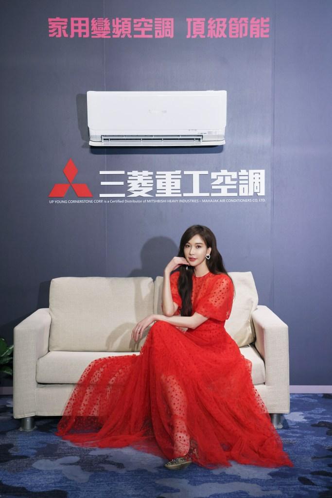 上洋產業 董事 蘇室安、上洋產業 吳明富 董事長 、三菱重工品牌代言人林志玲