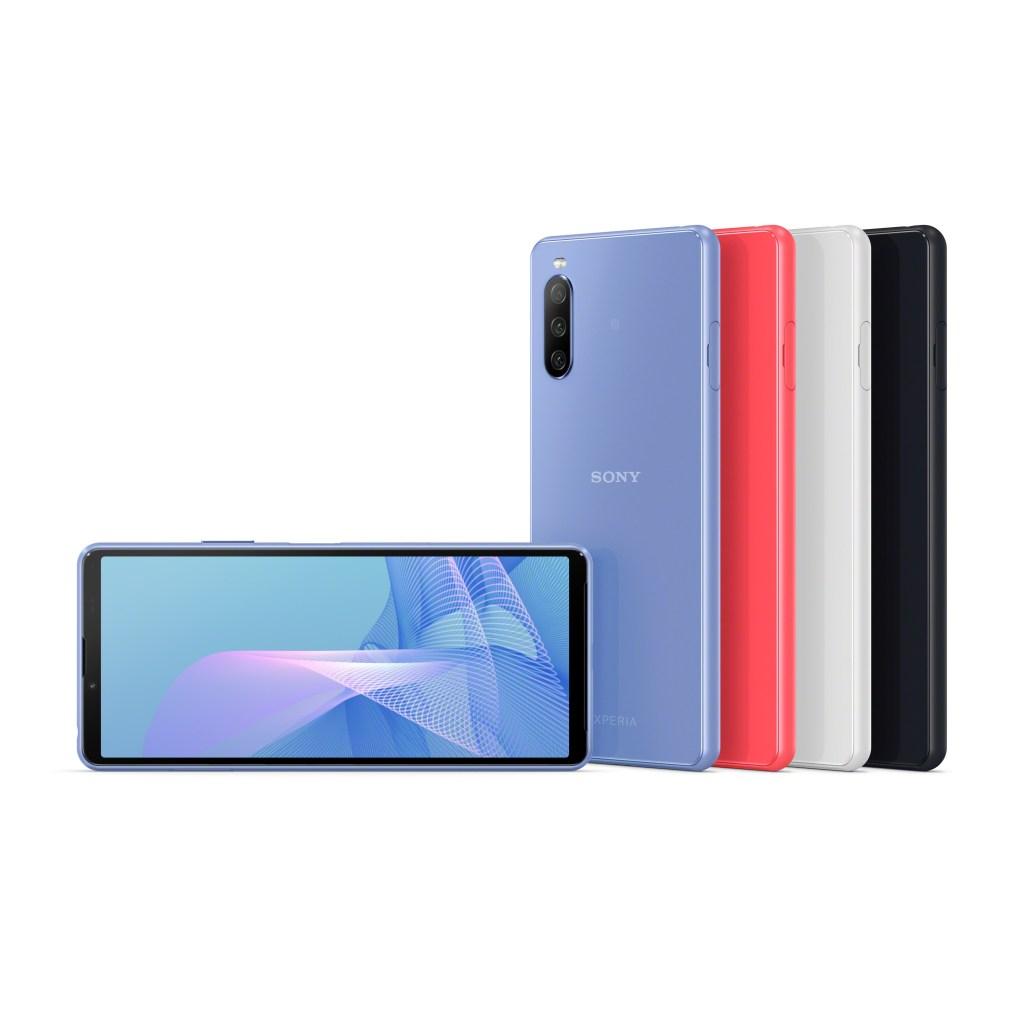 Xperia 10 III推出水漾藍、水漾粉、水漾黑、水漾白四色,展現無限繽紛活力