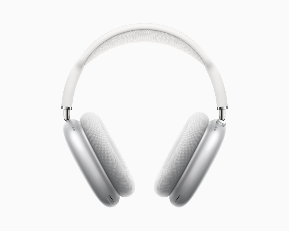 AirPods Max 擁有透氣的頂部網面,可分散重量以降低頭部壓力。AirPods Max 備有五款美麗的顏色:太空灰色、銀色、天藍色、綠色與粉紅色。