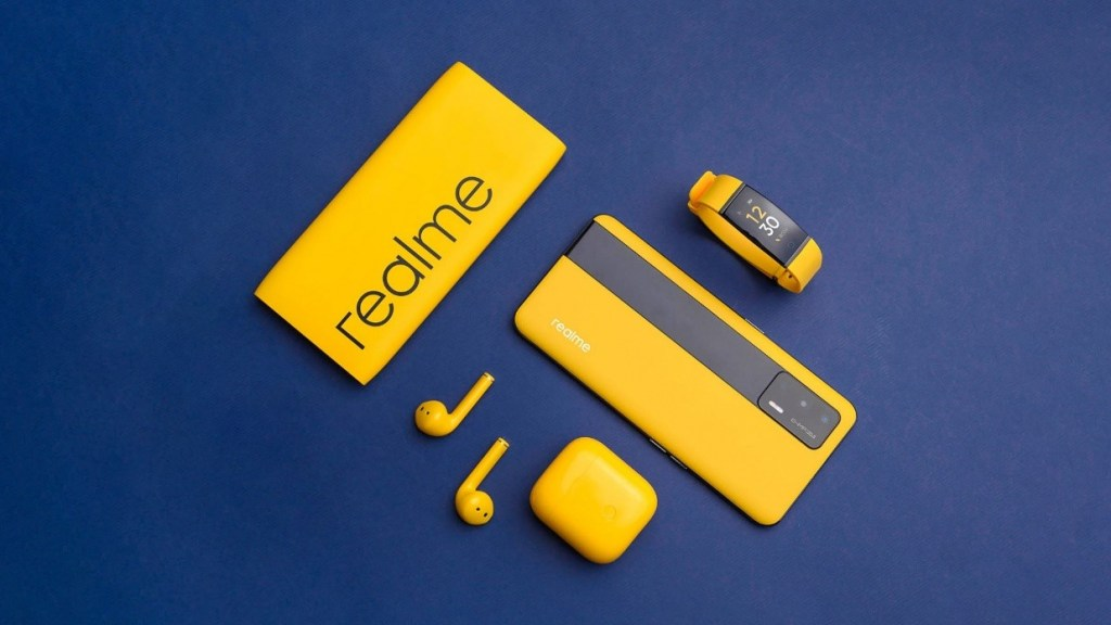 realme大膽將品牌黃色運用於產品中,推出多款受用戶喜愛的科技產品。