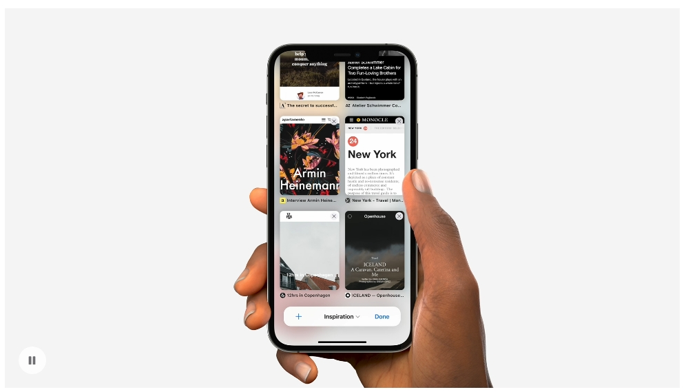 Safari 經過重新設計,新的標籤列和「標籤頁群組」提供更出色的瀏覽體驗。