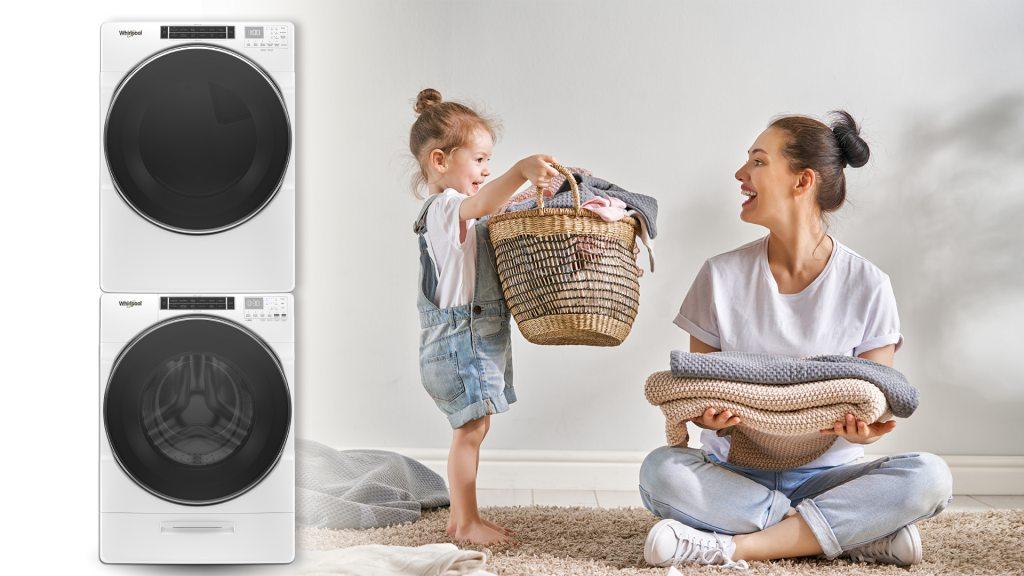 惠而浦W Collection洗乾雙機憑99.9%除菌及20分鐘快乾,提供全方位衣物解決方案,洗烘衣同時有效滅菌,讓穿衣更安心!