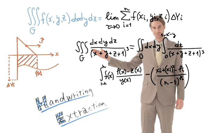 REA-C1000系統搭載手寫字跡擷取科技,可提取講者寫在白板或黑板上的字跡符號,並透過AR技術