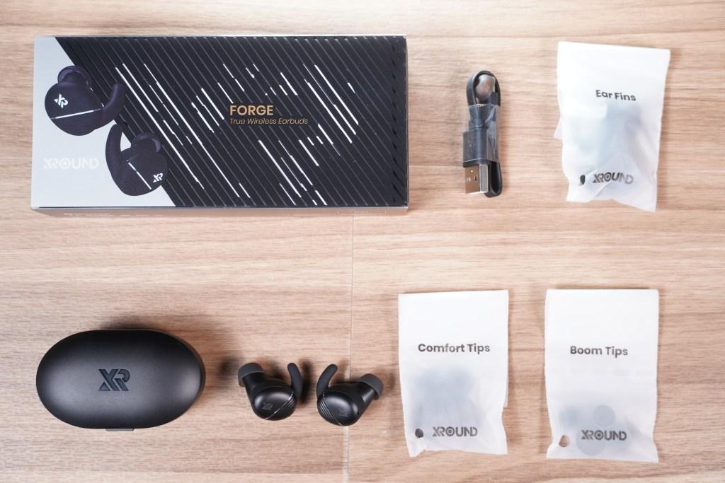 XROUND-FORGE-黑銀-盒裝內容物