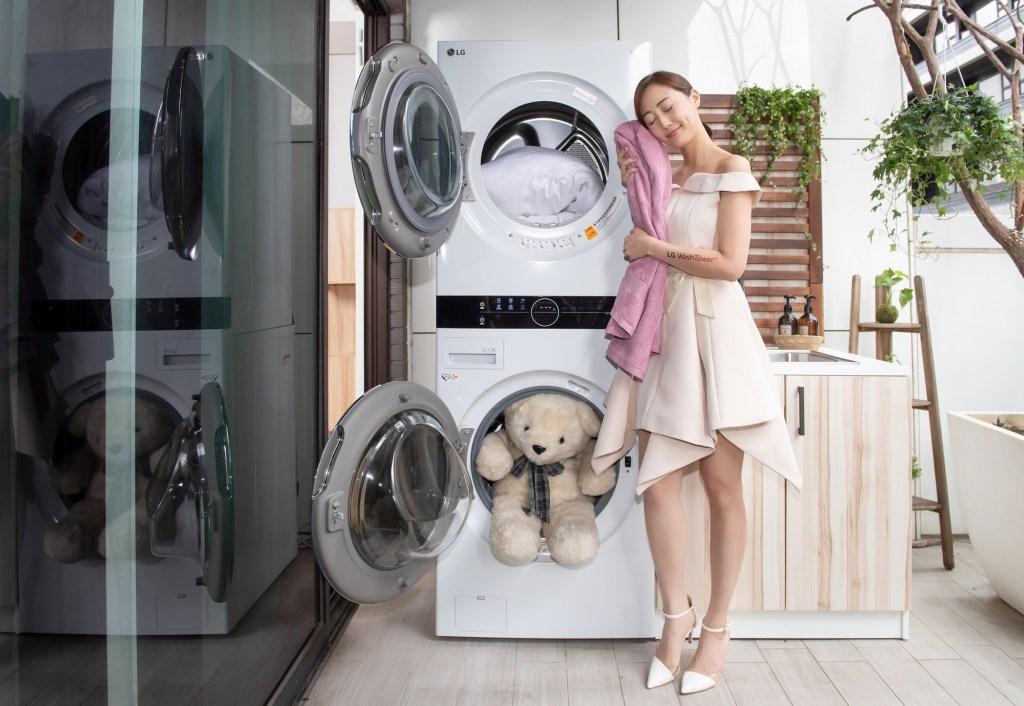 智慧技術讓洗衣變簡單且呵護更極致,LG-WashTower™-AI智控洗乾衣機