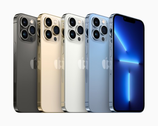 iPhone 13 Pro 和 iPhone 13 Pro Max 將提供四種令人驚嘆的飾面,包括石墨、金色、銀色和山脈藍。