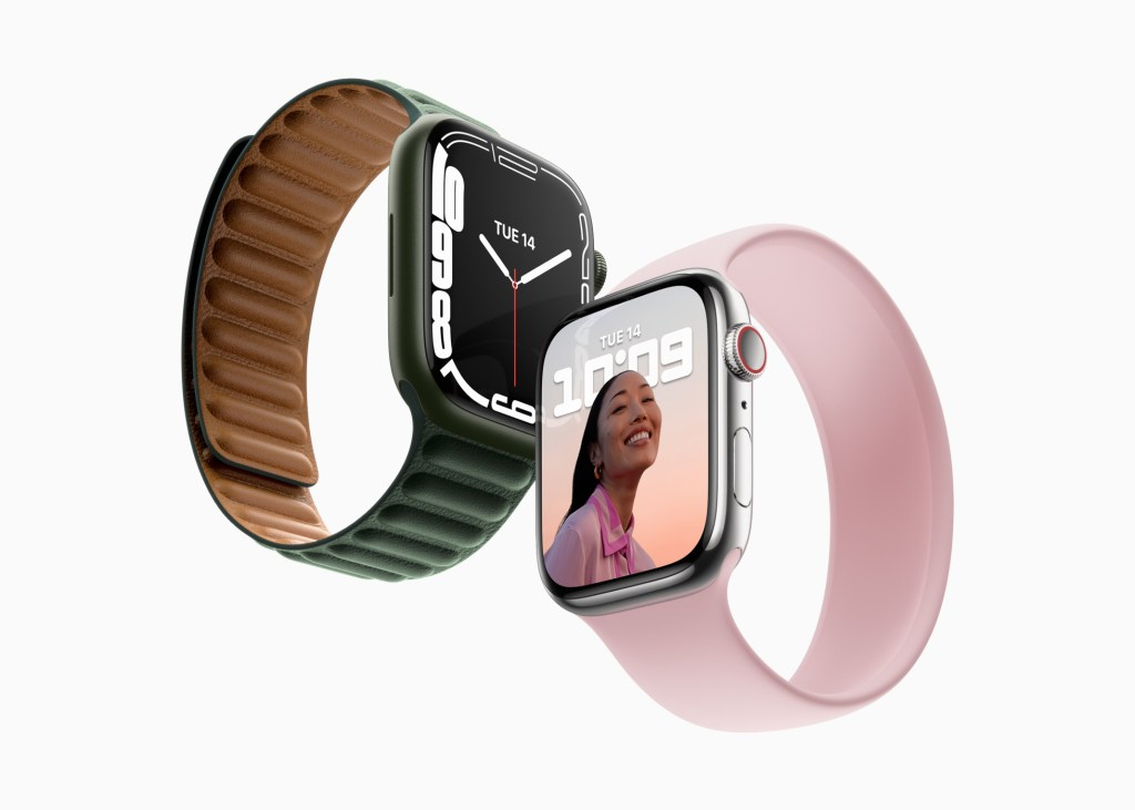 Apple 公佈 Apple Watch Series 7 配備最大、最先進的顯示器。