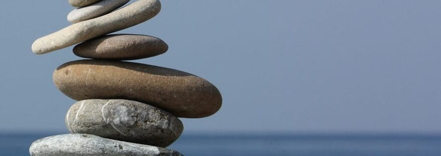 Steine in Balance