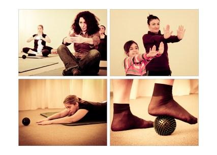 Foto: Frauen bei der Rückbildungsgymnastik