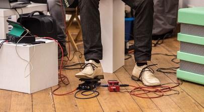 Schuhe eines Musikers