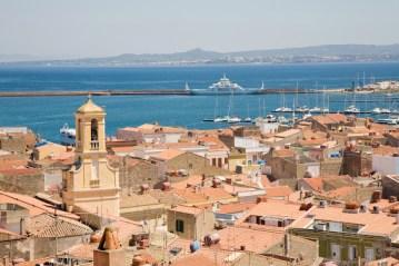 The town of Carloforte on the island of San Pietro in Sardinia, Italy