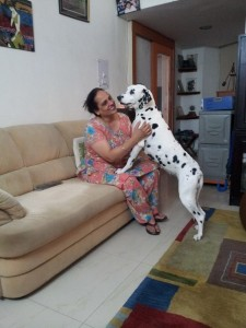 Sukhi with Sparky