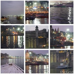 Evening arti on the holy river Ganges