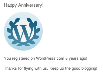 8 Years of WordPress