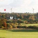 Turbines from Barrow Hill footpath