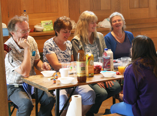 A birthday celebration at the Manor
