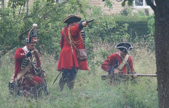 The British commander takes aim