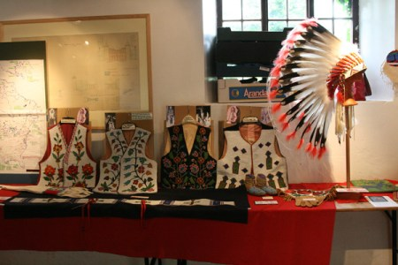 A very fine exhibition of Native American clothing and other artefacts