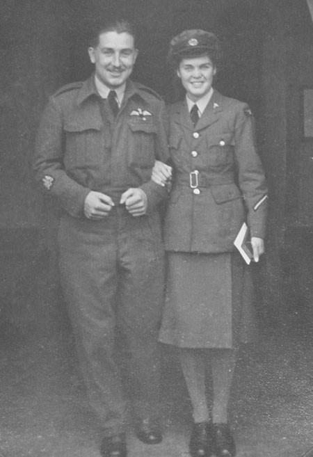 Bill and Margaret Wootton outside the church on their wedding day