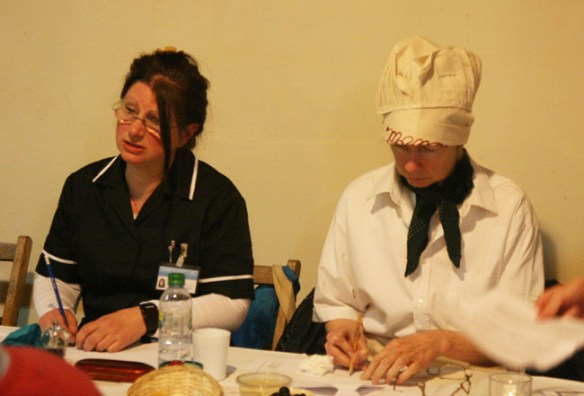....but the Duke's nurse, on the left, knows that the game is up