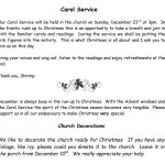 Carol Service 2018
