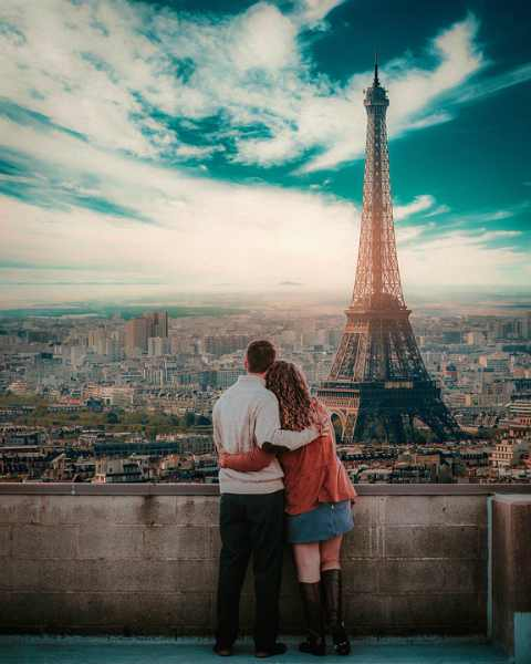 innamorati torre Eiffel