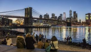 ponte brooklyn new york in inverno