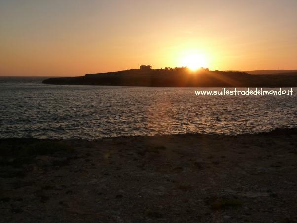 Lampedusa tramonto a Cala Croce