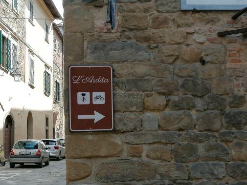 percorso cicloturistico Ardita  ad Arezzo