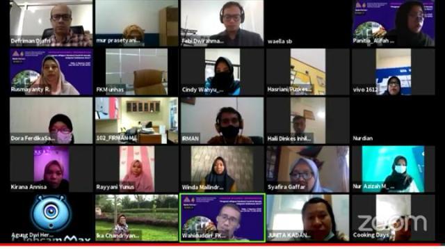 Webinar yang digelar Himpunan Mahasiswa Epidemiologi FKM Unhas